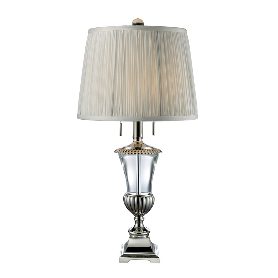 Westmore Lighting Fazzini 28.4-in Clear Crystal Indoor Table Lamp with Fabric Shade