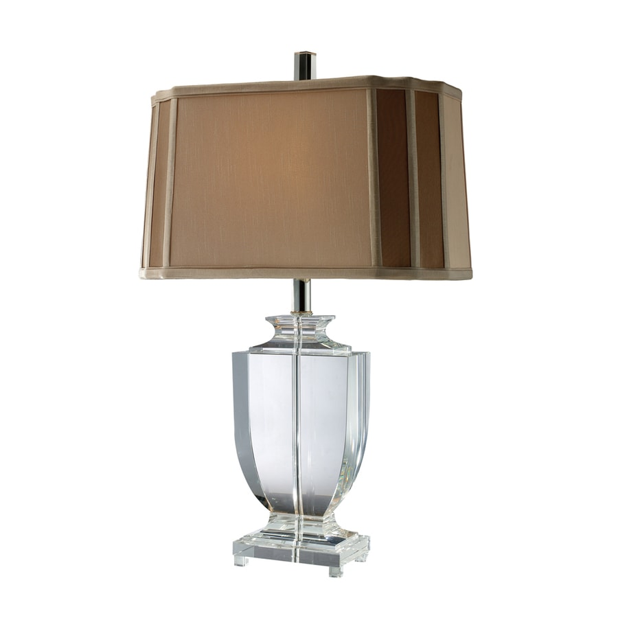 Westmore Lighting Waterdale 25-in Clear Crystal Standard 3-Way Switch Table Lamp with Fabric Shade