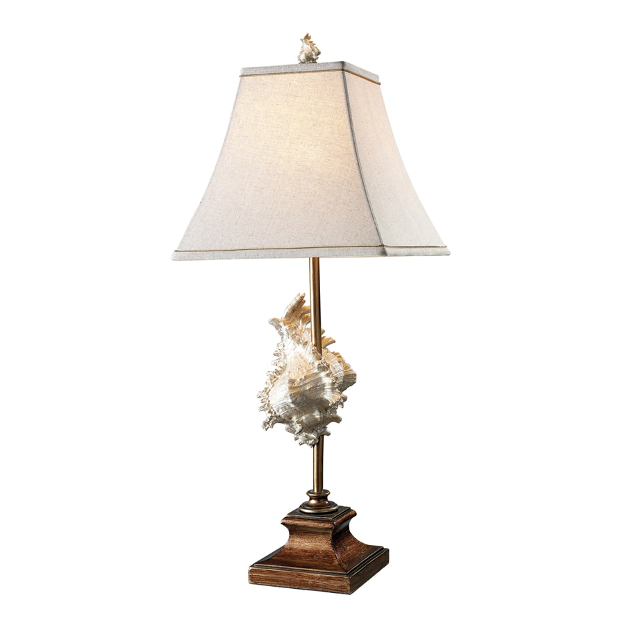 Westmore Lighting Harwood 30-in Bronze Indoor Table Lamp with Fabric Shade
