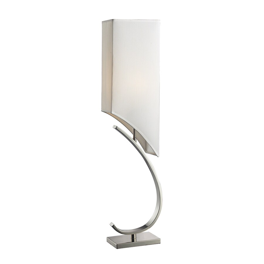 Westmore Lighting Bothart 36-in Polished Nickel Standard 3-Way Switch Table Lamp with Fabric Shade