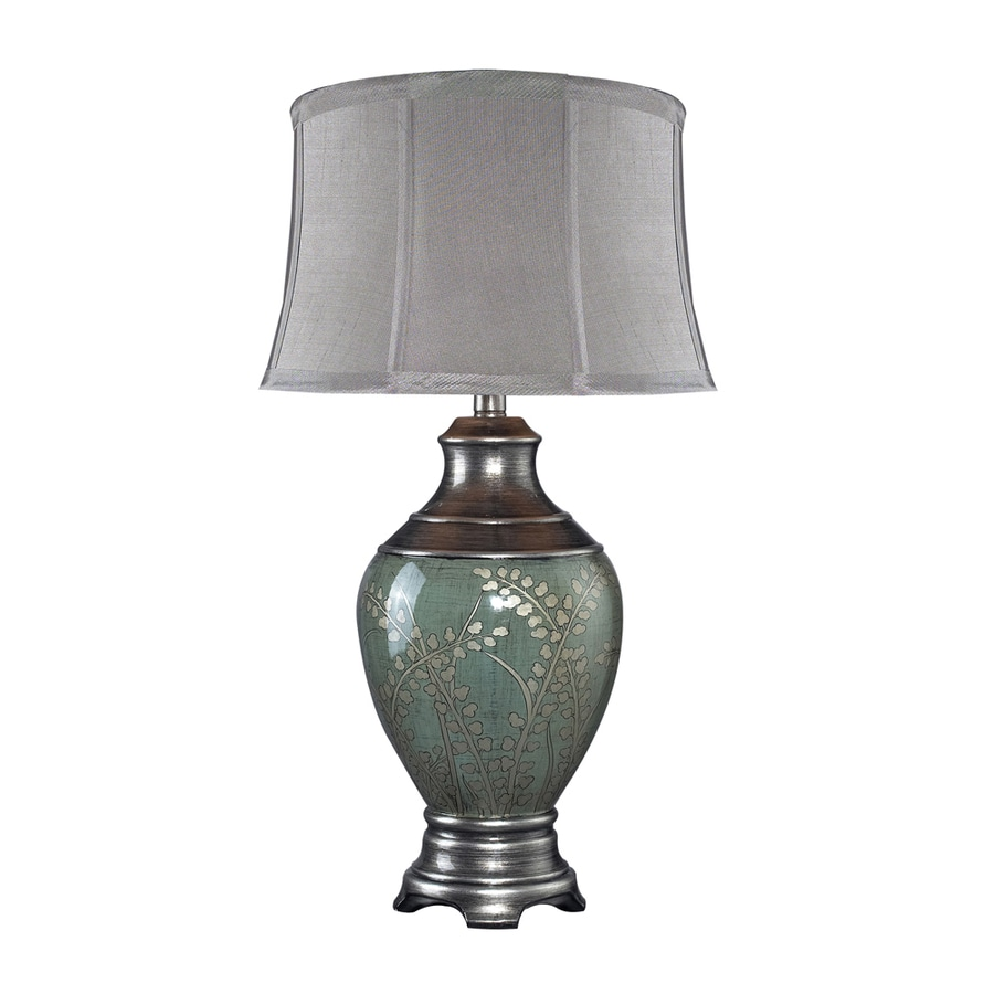 Westmore Lighting Pencara 25-in 3-Way Tongo Green Indoor Table Lamp with Fabric Shade