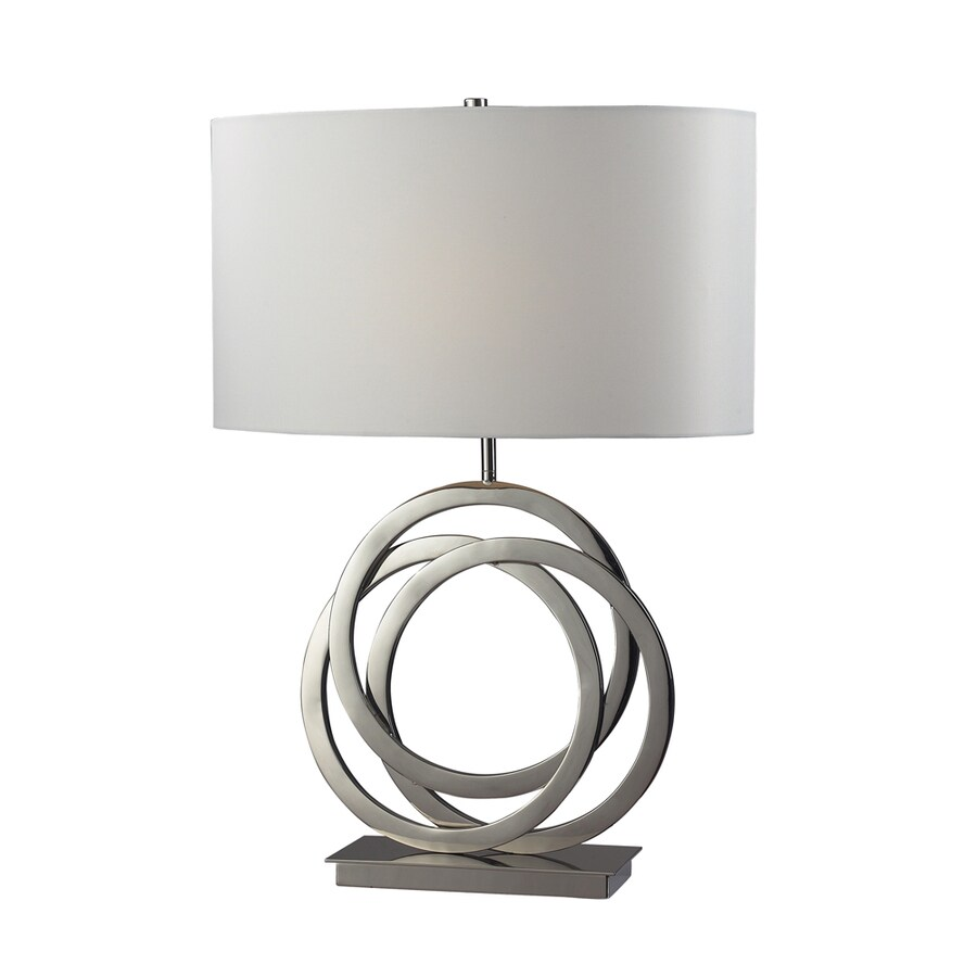 Westmore Lighting Hazelwood 25-in Polished Nickel Standard 3-Way Switch Table Lamp with Fabric Shade