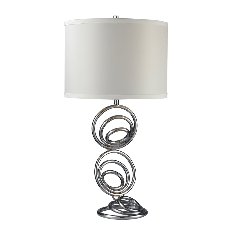 Westmore Lighting Westbury Grove 26-in 3-Way Chrome Indoor Table Lamp with Fabric Shade