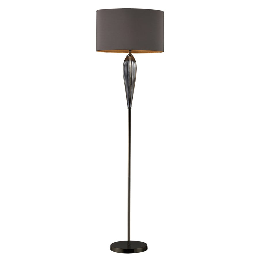 Westmore Lighting Frampton 63.5-in Steel and Black Nickel 3-Way Floor Lamp with Fabric Shade