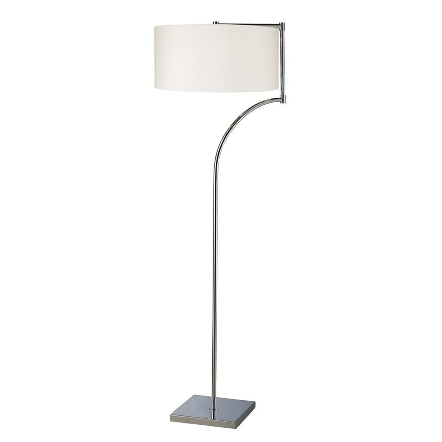 Westmore Lighting Pinebrook 58-in Chrome Indoor Floor Lamp with Fabric Shade