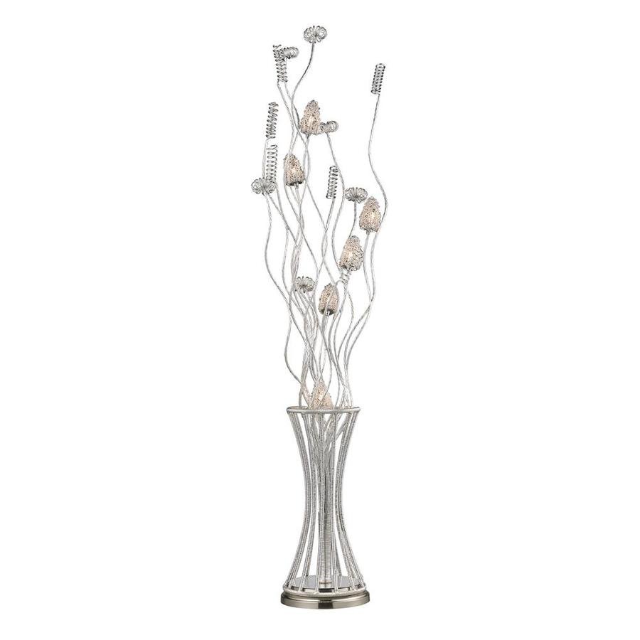 Westmore Lighting Coulson 55-in Satin Nickel Multi-Head Floor Lamp with Metal Shade