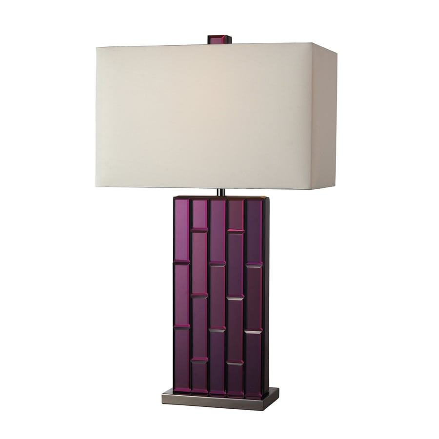 Westmore Lighting Pocono 27-in Chrome Standard 3-Way Switch Table Lamp with Fabric Shade