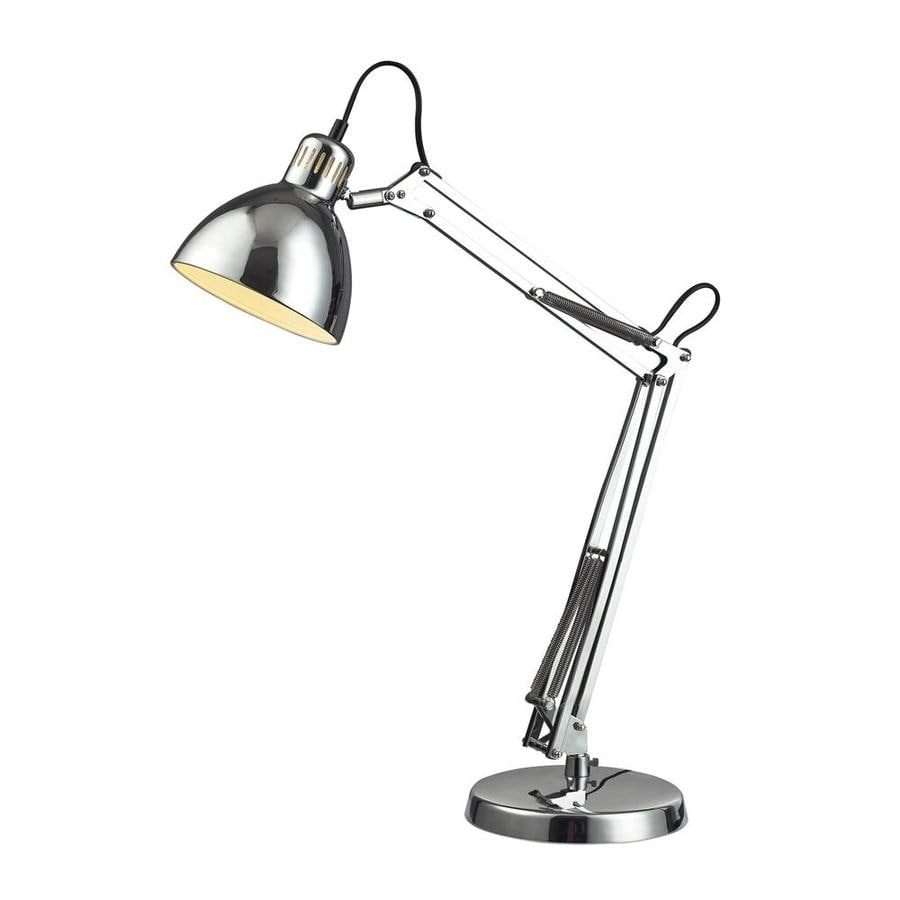 Westmore Lighting Faraday 26-in Chrome Indoor Table Lamp with Metal Shade
