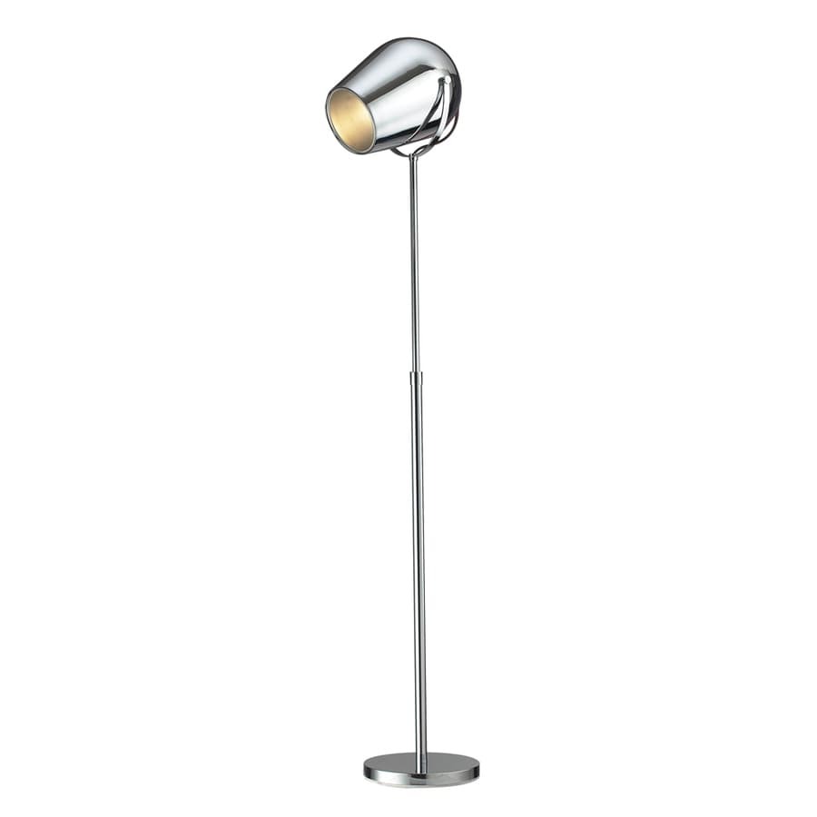 Westmore Lighting Graham 65-in Chrome Contemporary/Modern Shaded Floor Lamp Indoor Floor Lamp with Metal Shade