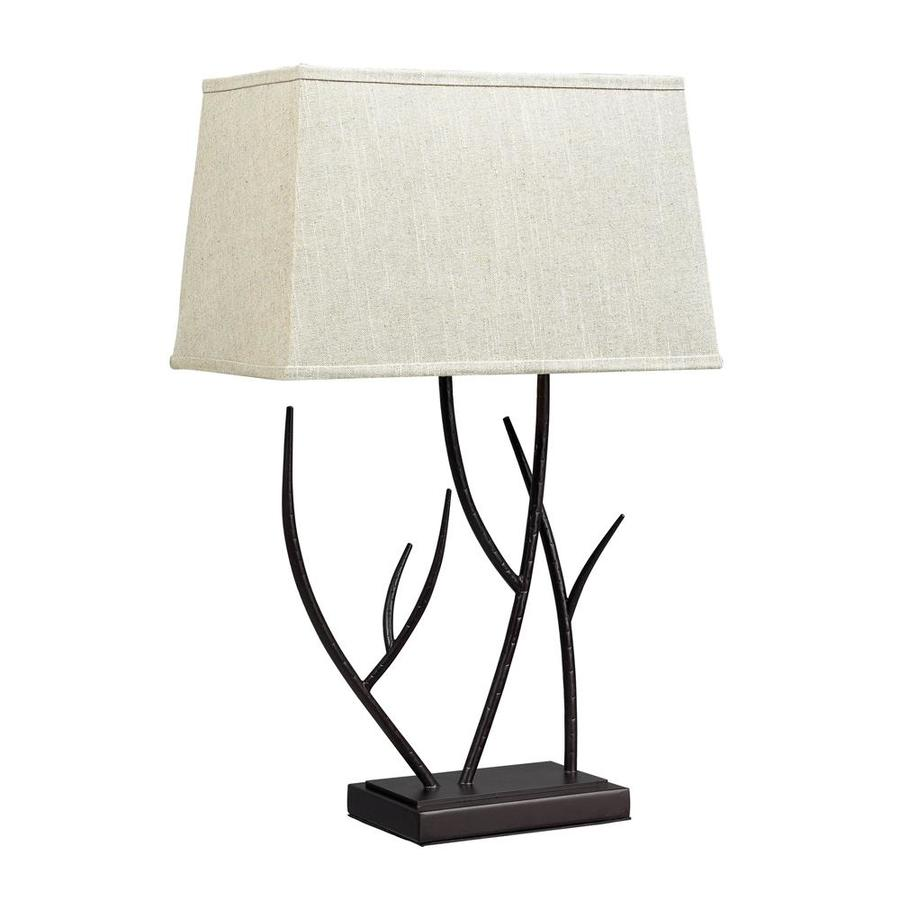 Westmore Lighting Gregor 25-in Bronze Standard Table Lamp with Fabric Shade