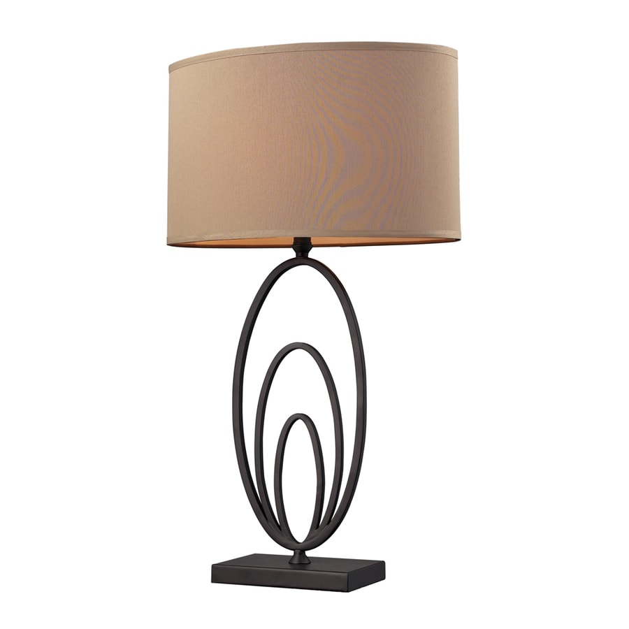 Westmore Lighting Nikola 30-in Bronze Standard 3-Way Switch Table Lamp with Fabric Shade