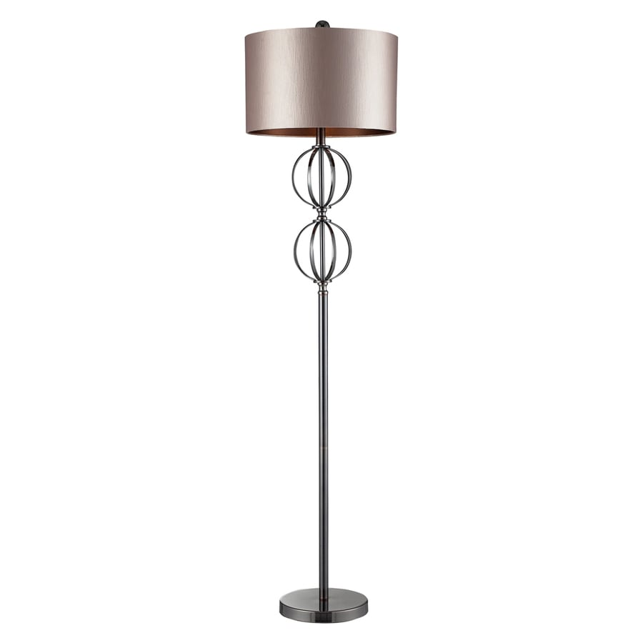 Westmore Lighting Leibniz 63-in Coffee Plating 3-Way Floor Lamp with Fabric Shade