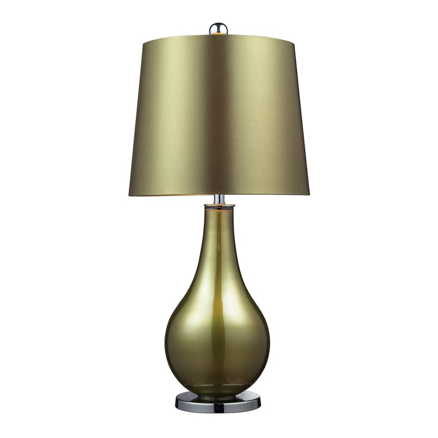 Westmore Lighting Maxwell 33-in Kappa Green Standard 3-Way Switch Table Lamp with Fabric Shade