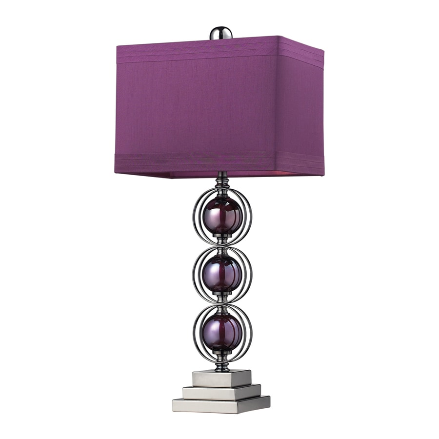 Westmore Lighting Neumann 27-in Black Nickel Standard Table Lamp with Fabric Shade
