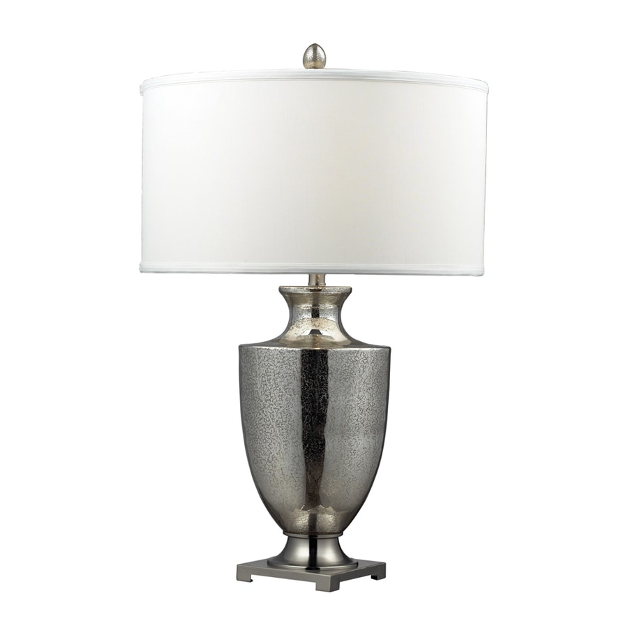 Westmore Lighting Cassini 31-in 3-Way Mercury Indoor Table Lamp with Fabric Shade