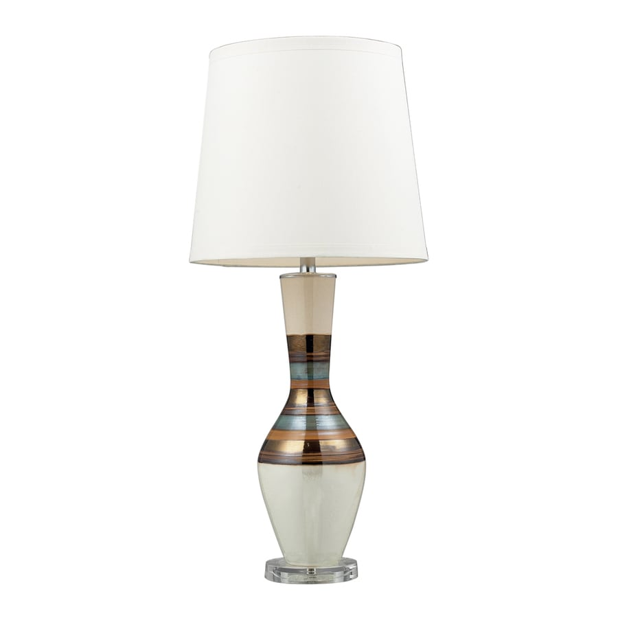 Westmore Lighting Domenico 33-in New Bali Standard 3-Way Switch Table Lamp with Fabric Shade