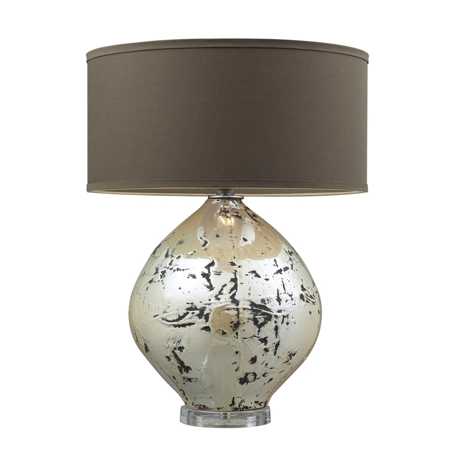 Westmore Lighting Pinette Park 25-in 3-Way Turrit Beige Indoor Table Lamp with Fabric Shade