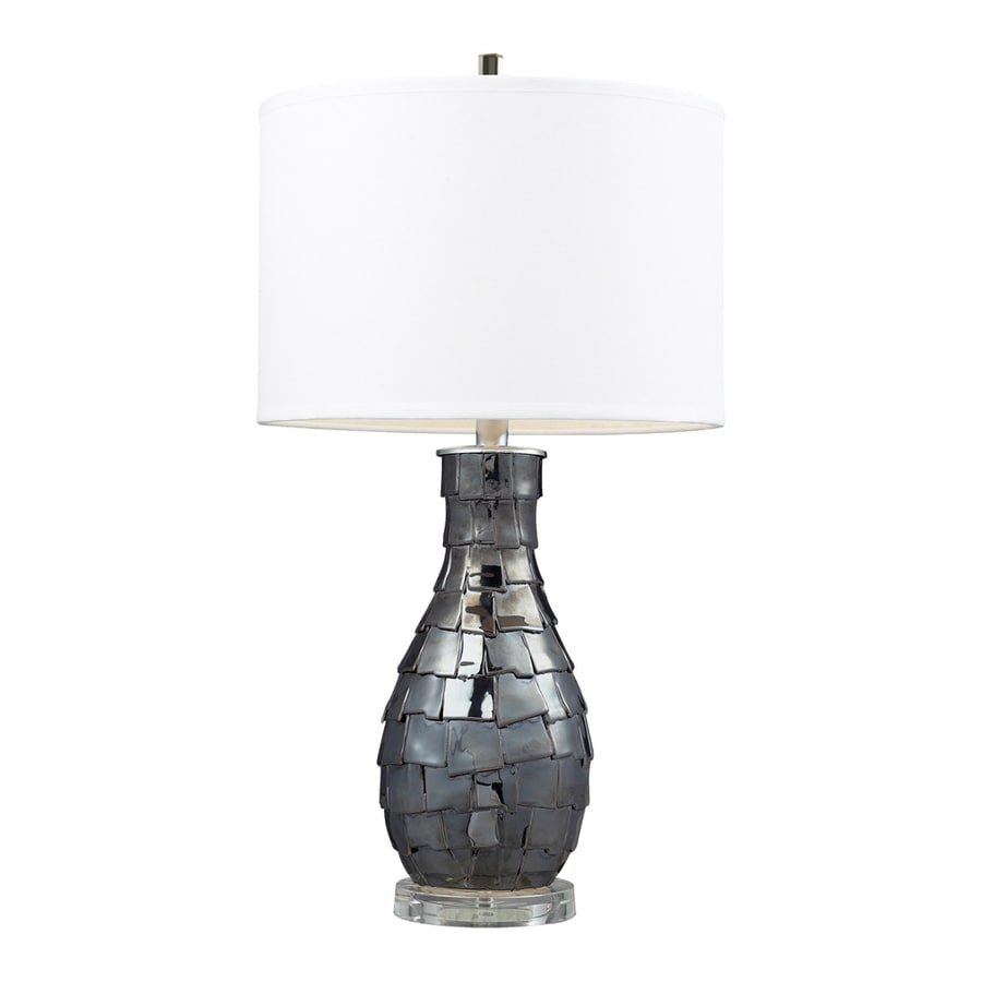 Westmore Lighting Crichton 25-in Navy Pearl Standard 3-Way Switch Table Lamp with Fabric Shade
