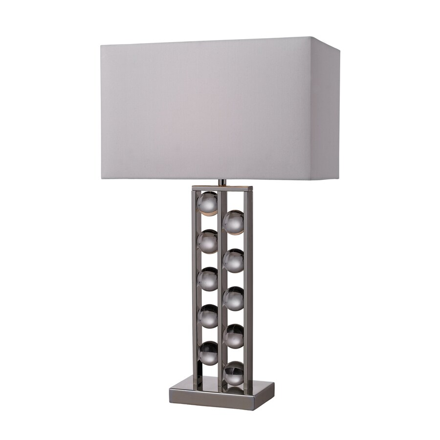 Westmore Lighting Piccadilly 28-in Chrome Standard 3-Way Switch Table Lamp with Fabric Shade
