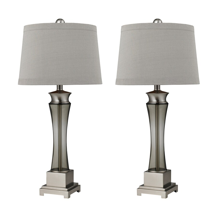 Lowes Table Lamps: Shop Westmore Lighting Ticonderoga 30-in 3-Way Nickel And