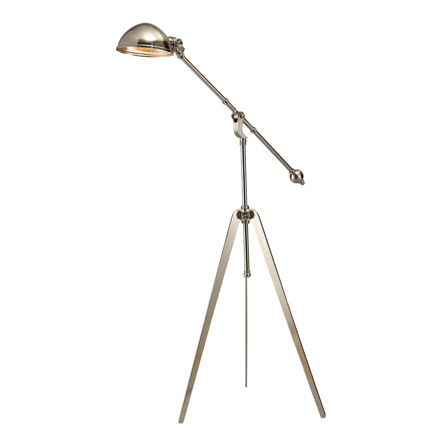 Westmore Lighting Guildhall 61-in Nickel Transitional Shaded Floor Lamp Floor Lamp with Metal Shade