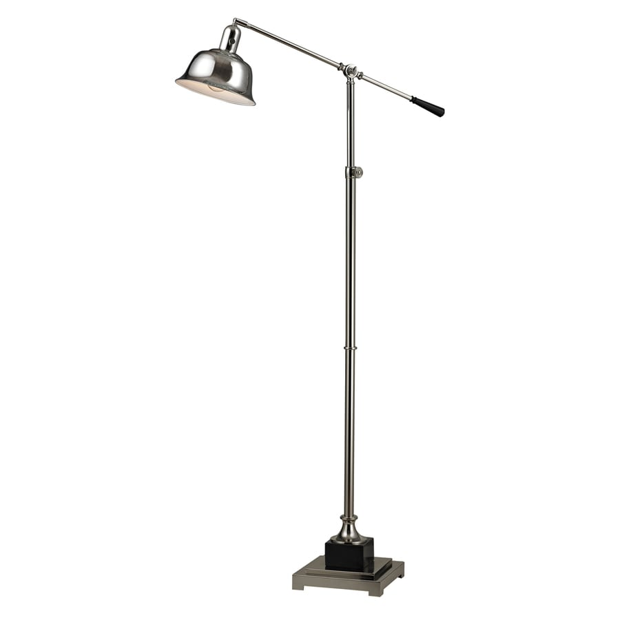 Westmore Lighting Cole Harbour 51-in Polished Nickel Floor Lamp with Metal Shade