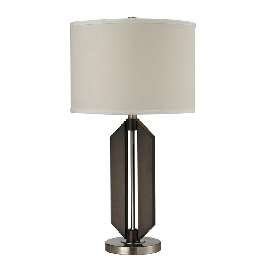 Westmore Lighting Grandville 15-in 3-Way Vienne Bronze and Brushed Steel Indoor Table Lamp with Fabric Shade