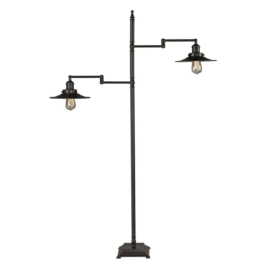 Westmore Lighting Springford 61-in Oil Rubbed Bronze Floor Lamp with Metal Shade