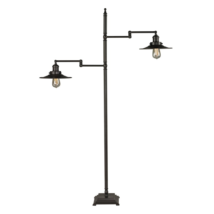 Westmore Lighting Springford 61-in Oil Rubbed Bronze Traditional Shaded Floor Lamp Floor Lamp with Metal Shade