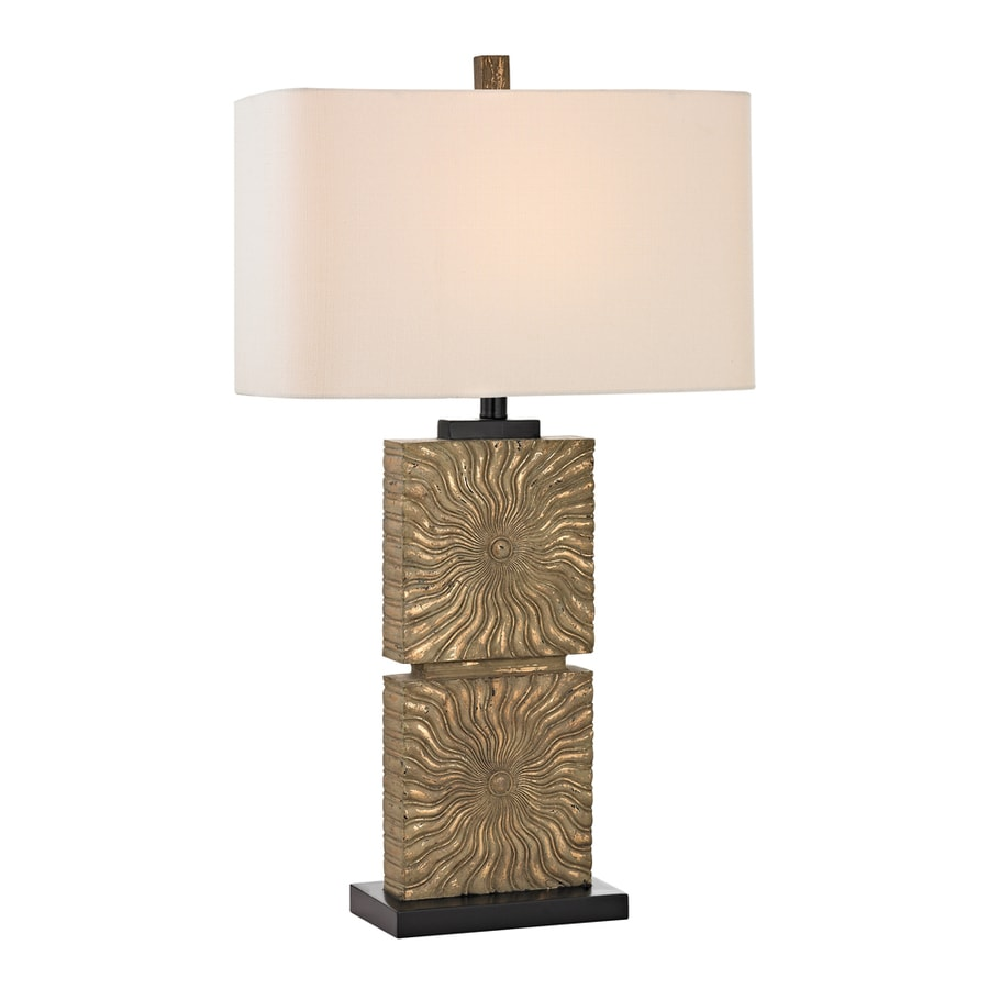 Westmore Lighting Bartek 31.5-in Richio Gold Standard 3-Way Switch Table Lamp with Fabric Shade
