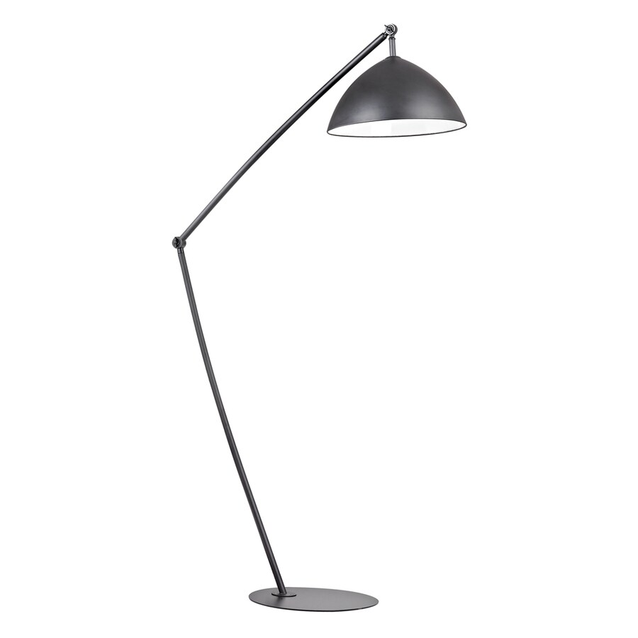 Westmore Lighting Kristo 50-in Matte Black Floor Lamp with Metal Shade