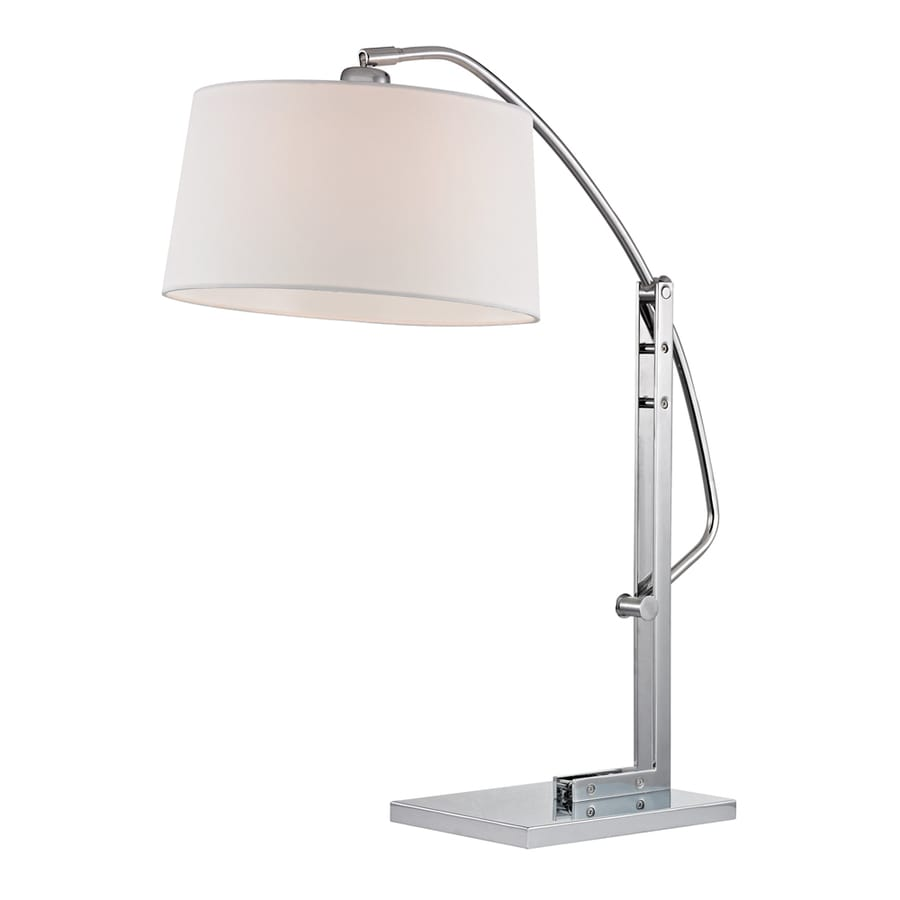 Westmore Lighting Gladwyne 25-in Polished Nickel Standard Table Lamp with Fabric Shade