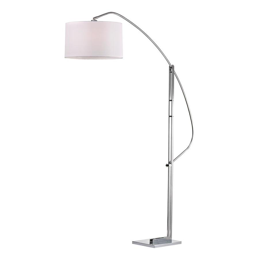 Westmore Lighting Gladwyne 50-in Polished Nickel Floor Lamp with Fabric Shade
