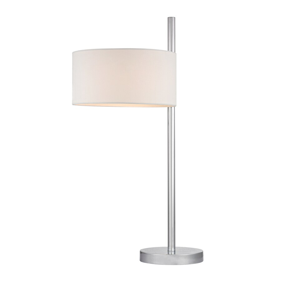 Westmore Lighting Putnam Hill 25-in Polished Nickel Standard Table Lamp with Fabric Shade