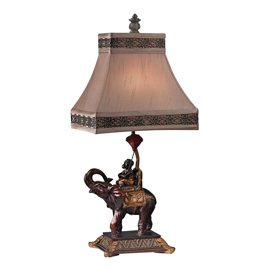 Westmore Lighting Chitwood 24-in Valrico Bronze Indoor Table Lamp with Fabric Shade