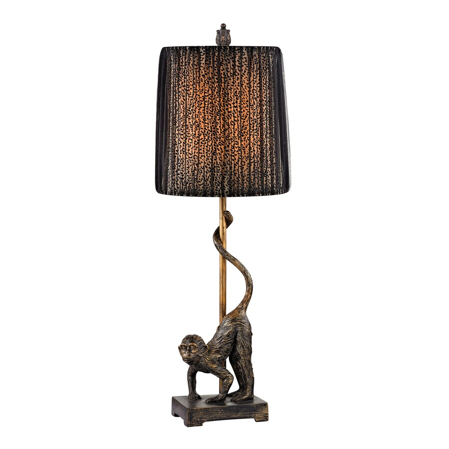 Westmore Lighting Chitwood 26-in Antosh Bronze Standard 3-Way Switch Table Lamp with Fabric Shade