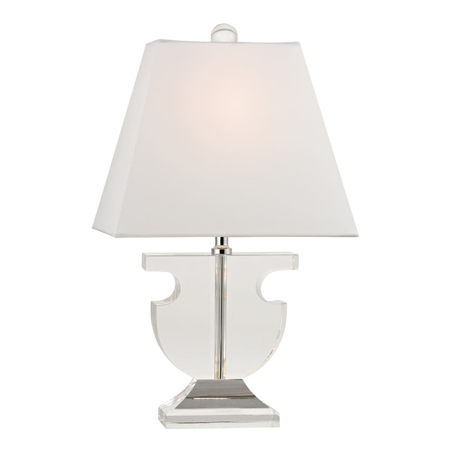 Westmore Lighting Wilshire 17-in Clear Indoor Table Lamp with Fabric Shade