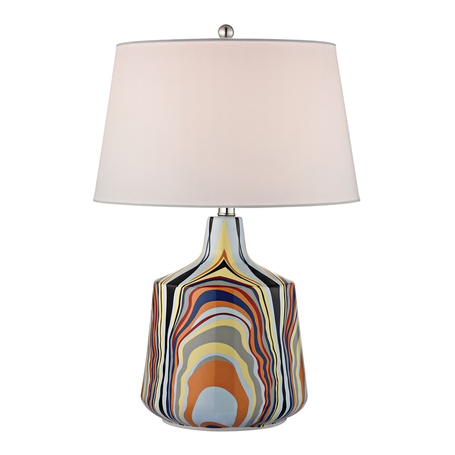 Westmore Lighting Ecclessia 23-in Multicolor Standard Table Lamp with Fabric Shade