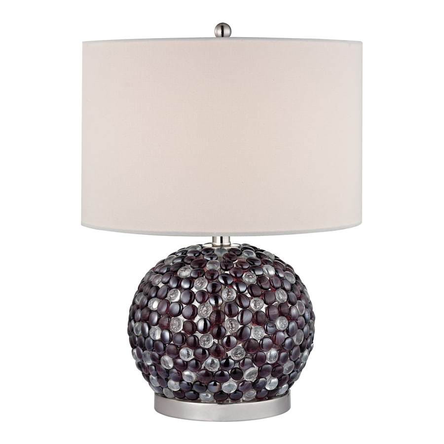 Westmore Lighting Minerva 20-in Amethyst Standard 3-Way Switch Table Lamp with Fabric Shade