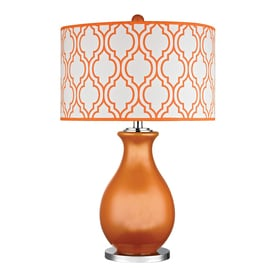 3 way switch table lamps westmore lighting becca valley 26in tangerine orange and polished nickel standard 3way lamps lamp shades at lowesforproscom