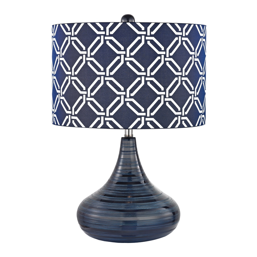 navy table lamp light blue westmore lighting mccarol 21in navy blue standard table lamp with fabric shade shop