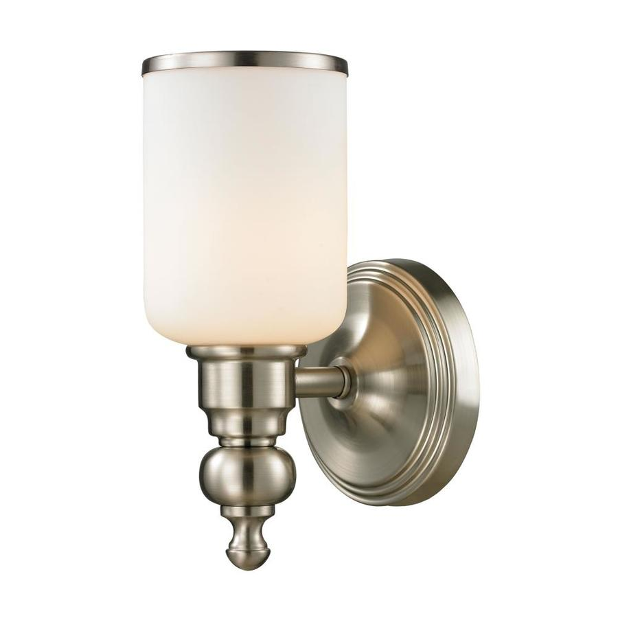 Westmore Lighting Trimalchio 1-Light 10-in Brushed Nickel Cylinder Vanity Light