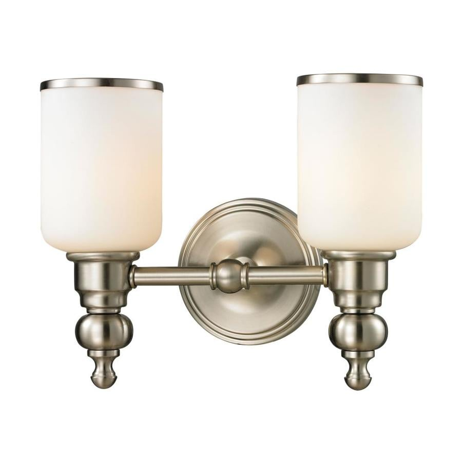 Westmore Lighting Trimalchio 2-Light 10-in Brushed Nickel Cylinder Vanity Light