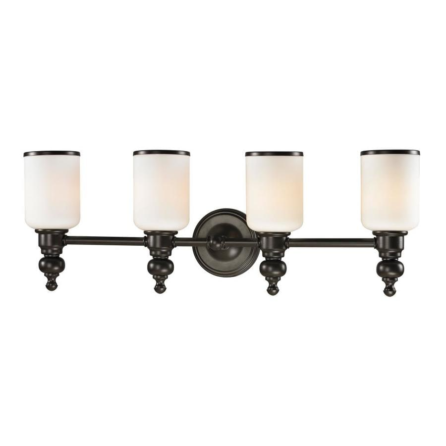 Westmore Lighting Trimalchio 4-Light 10-in Oil Rubbed Bronze Cylinder Vanity Light
