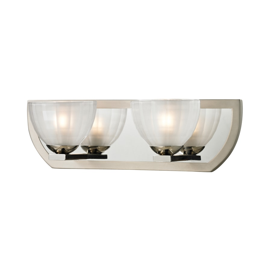 Westmore Lighting Bridalveil 2-Light 5-in Polished Nickel/Matte Nickel Bowl Vanity Light