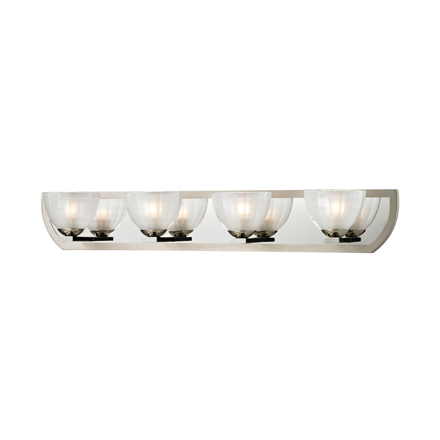 Polished Nickel Bathroom Vanity Light: Shop Westmore Lighting Bridalveil 4-Light Polished Nickel