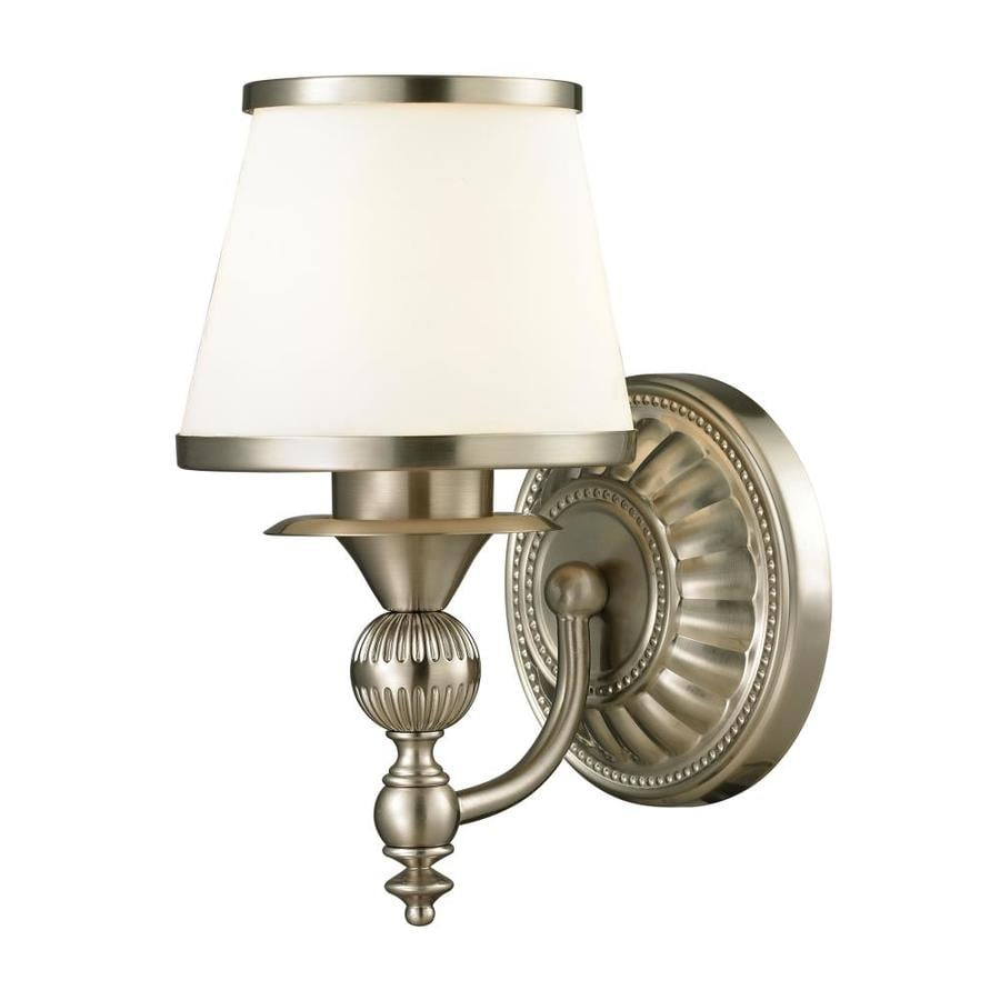 Westmore Lighting Hammersmith 1-Light 12-in Brushed Nickel Cone Vanity Light