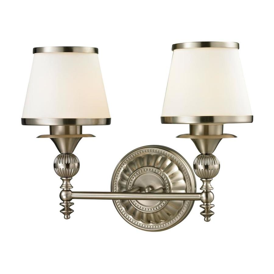 Westmore Lighting Hammersmith 2-Light 13-in Brushed Nickel Cone Vanity Light