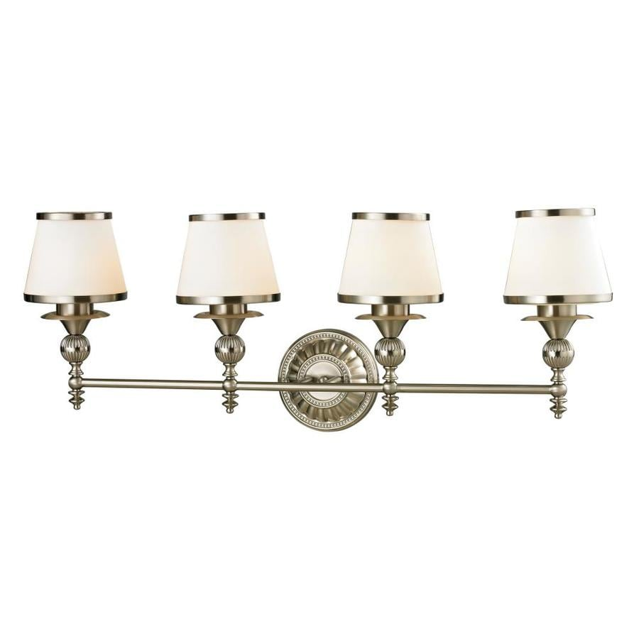 Westmore Lighting Hammersmith 4-Light 13-in Brushed Nickel Cone Vanity Light