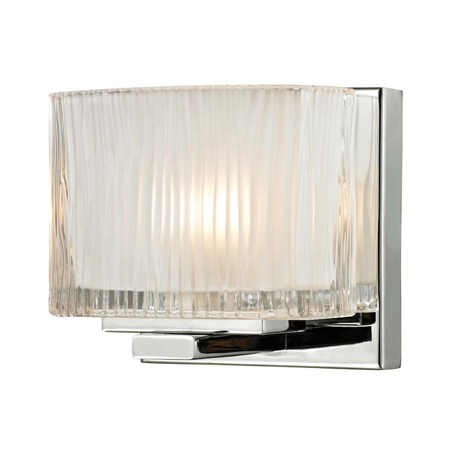 Westmore Lighting Cascata 1-Light 5-in Polished Chrome Square Vanity Light